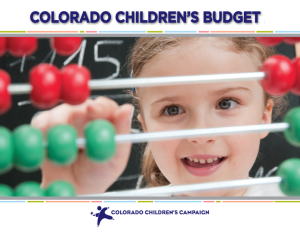 Children's Budget Cover