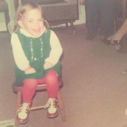Jennifer Corrigan as a Child