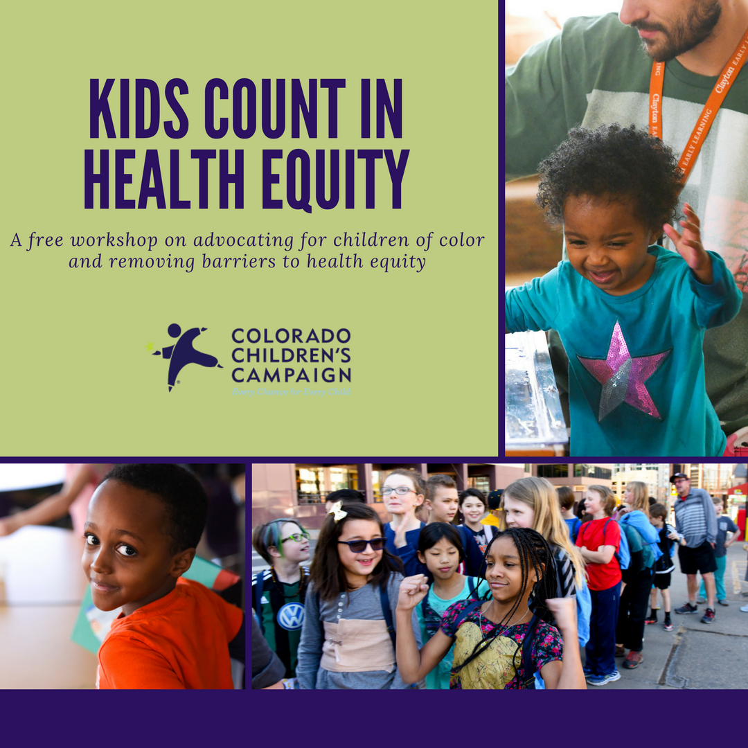 Kids Count Presentation 2017 Denver event poster