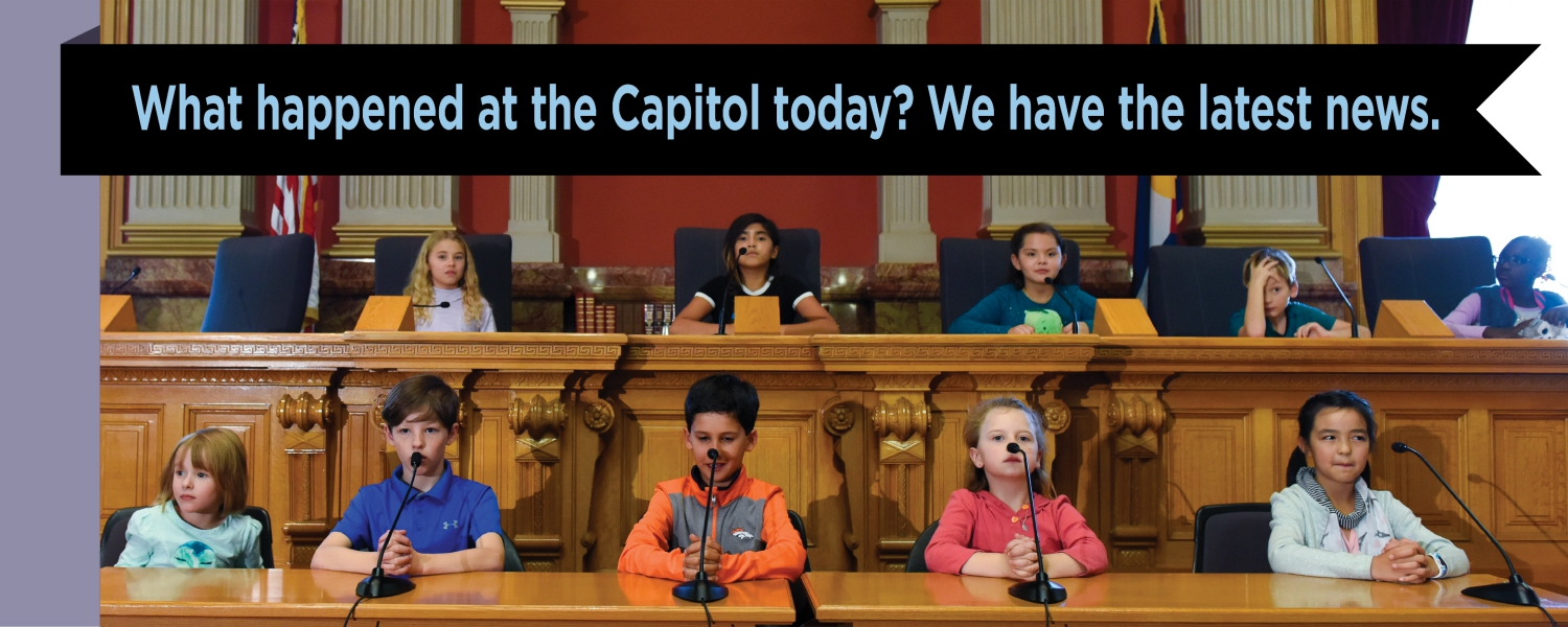 Children in the state capitol home page slider
