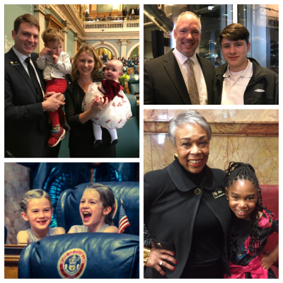 legislators and parents in the opening festivities of the 2018 Colorado General Assembly