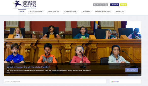 screenshot of capitol updates on CCC website