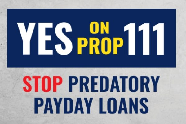 Children Campaign urges YES vote on Prop 111—cap payday loan rates