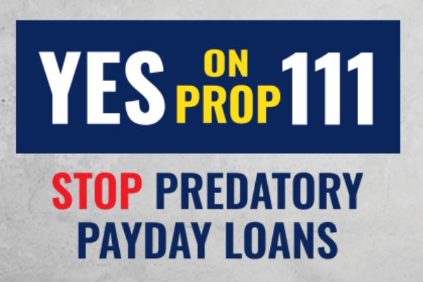The Children's Campaign is urging Coloradans to vote YES on Proposition 111 to cap the interest rate on predatory payday loans