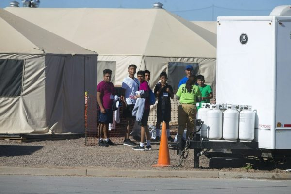 migrant teens held inside the Tornillo detention camp