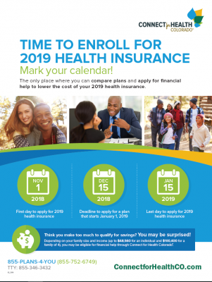 Time ro enroll for 2019 health insurance
