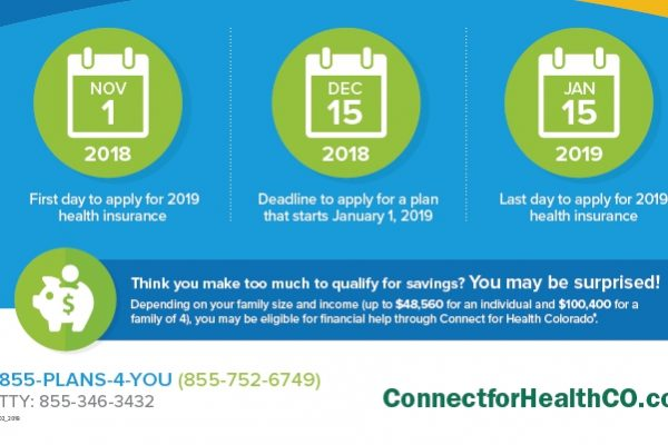 The 2019 Open Enrollment Period started Nov. 1 and will run until Jan. 15, 2019