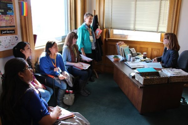 Advocates meet with legislators