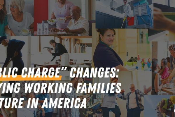 "We oppose the ""public charge"" wealth test for immigrants"