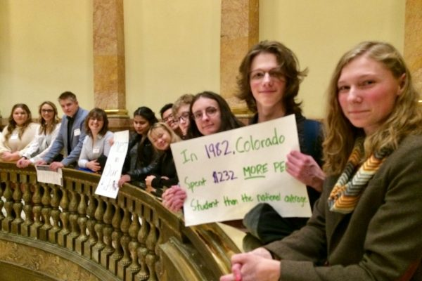 Colorado Youth Congress students rally at the Capitol for more fair and sufficient school funding