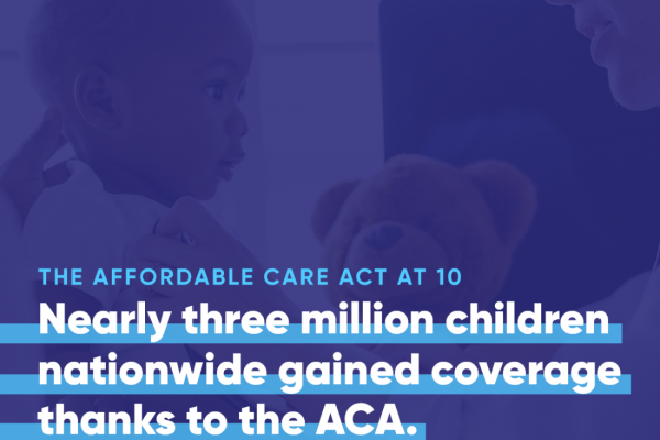 nearly three million children nationwide gained coverage thanks to the ACA