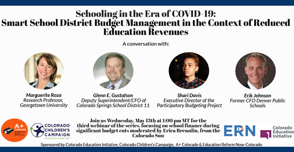 Join Us for a virtual discussion with national and local education leaders