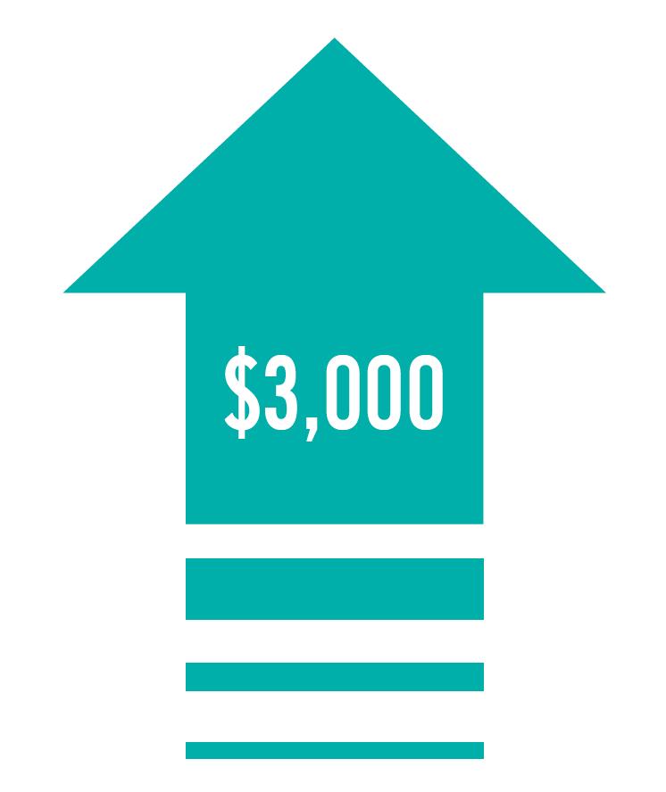 Boost income $3,000