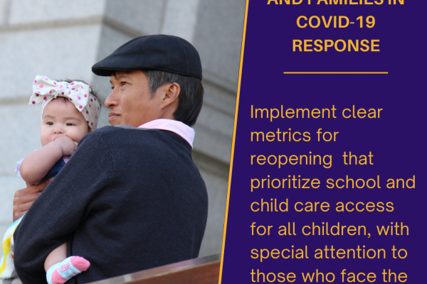 45 organizations encourage Gov. Polis and agency heads to prioritize the needs of kids and families in Colorado's COVID response