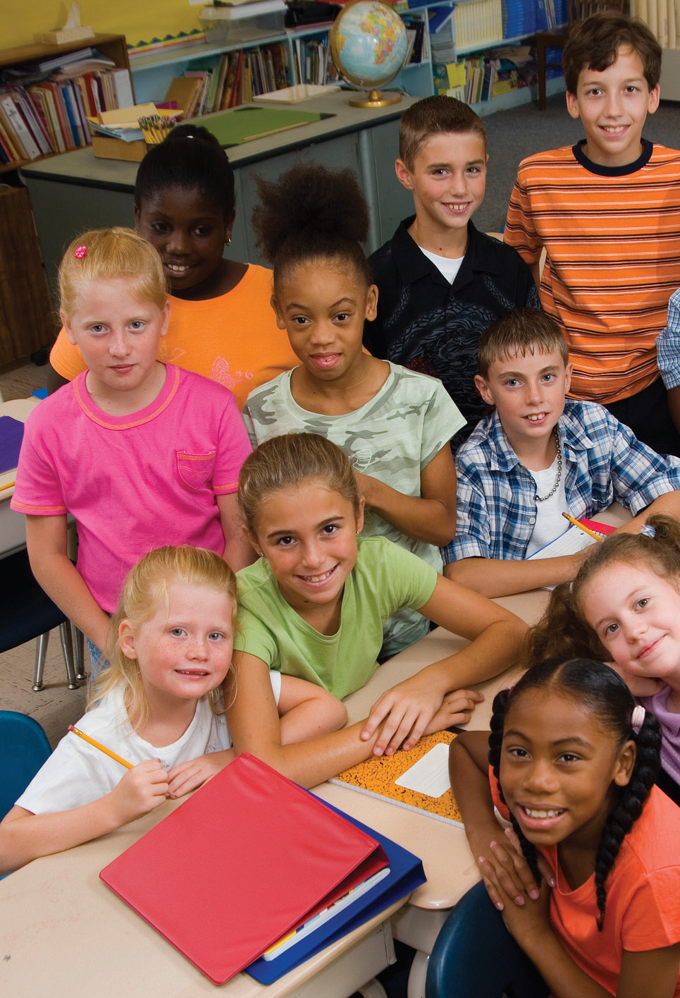 Group of Kids in class room