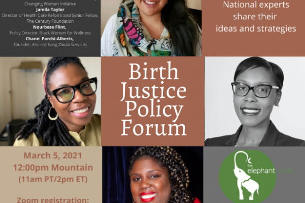 Learn more about birth justice policy on March 5