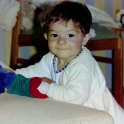 Charlie Veraza as a baby