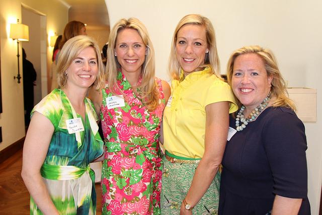 Former Circle of Friends President and 2015 Tea Hostess Brooke Simpson, along with longtime Circle of Friends members Cristen Calamari, Caroline McMorrow and Anne Jordan.
